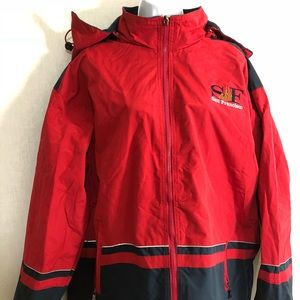 Jackets & Blazers - San Francisco Fleece Rain Coat w/ Removable Hood